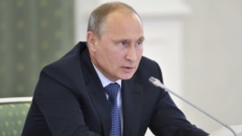 Russian President Vladimir Putin says Syria's rebels are only trying to draw in Western help.
