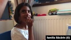 Sorina, fetița adoptată de familia Săcărin, cetăteni români stabiliți în SUA