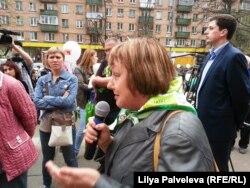 "Галина Михалева. Митинг прошел при поддержке партии ""Яблоко"""
