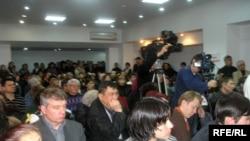Үйлестіру кеңесінің «Еуразия» қонақ үйіндегі митингісі. Алматы, 27 қаңтар, 2009жыл.