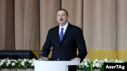Azerbaijan -- President Ilham Aliyev marks the 20th anniversary of establishment of the ruling Yeni Azerbaycan Party, 16Nov2012.