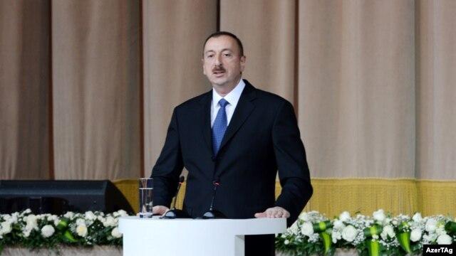 Azerbaijan -- President Ilham Aliyev marks the 20th anniversary of establishment of the ruling Yeni Azerbaycan Party, 16Nov2012.