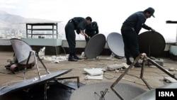 جمعآوری آنتنهای ماهواره توسط نیروی انتظامی
