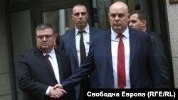 Сотир Цацаров и Иван Гешев след преизбирането на Гешев за главен прокурор на 14 ноември