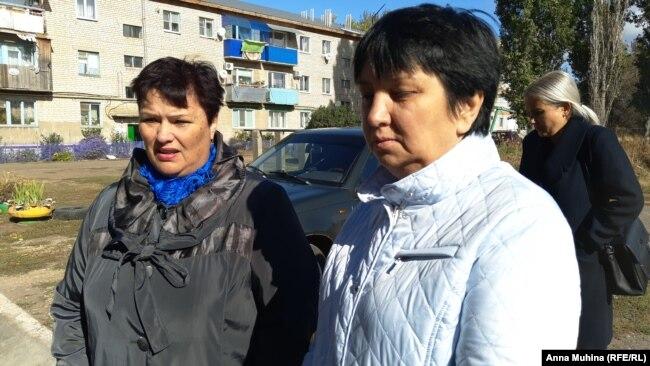 Жители Подлесного (слева – Ольга Шалыгина)