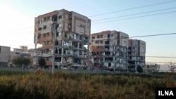 ساختمانهای مسکن مهر پس از زمینلرزه کرمانشاه