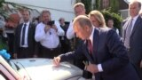 Putin Waltzes At Austrian Foreign Minister's Wedding GRAB