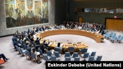 A UN Security Council session in New York (file photo)