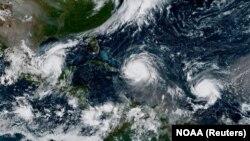 Uragani Irma, Hoze i Katia u Atlantskom okeanu - zabeleženo 7. septembra
