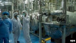 IAEA technicians inspect the site of a uranium conversion plant in Isfahan, Iran. (file photo)
