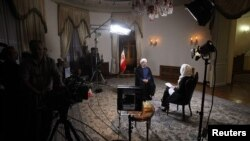 President Hassan Rohani gives an interview to the U.S. NBC television network Tehran on September 18.