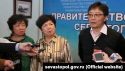 Делегация из Китая в Севастополе, апрель 2016 года