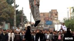 Публичная казнь в Иране. Дата и место неизвестны