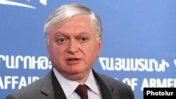 Armenia -- Foreign Minister Edvard Nalbandian at a press conference in Yerevan, 02Sep2009