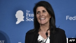 South Carolina Governor Nikki Haley, a rising star in the Republican Party, is the first nonwhite female cabinet-level official to be appointed by Trump.
