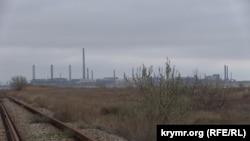 Завод «Крымский титан» на севере Крыма