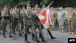 Inaugurarea aplicațiilor militare, la Rembertów, o suburbie a capitalei poloneze.