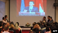 دانشگاه قاهره روز پنجشنبه، صحنه سخنرانی باراک اوباما با هدف ترمیم رابطه با دنیای اسلام بود