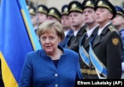 Канцлер Німеччини Ангела Меркель під час візиту до Києва, 1 листопада 2018 року