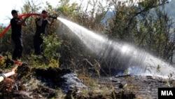 Пожар и пожарникари во Љубин