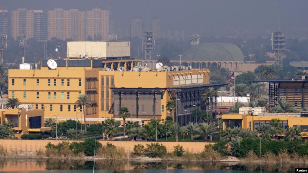 نمایی از سفارت آمریکا در بغداد