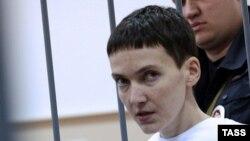 Надежда Савченко в зале Басманного суда в Москве 11 февраля 2015