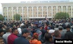 Шетелдіктерге жерді жалға беруге және сатуға қарсы митинг. Қызылорда, 1 мамыр 2016 жыл.
