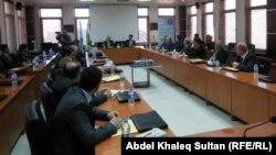 جانب من جلسة تحول تداعيات الاصلاحات التركية على اقليم كردستان العراق