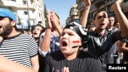 تظاهرات سوری ها و لبنانی ها در لبنان علیه حکومت اسد، عکس آرشیوی است