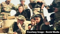 File photo of Dostum fighting in the northern Faryab province.