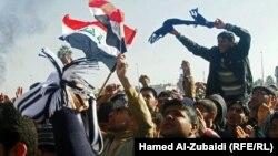تظاهرة في ساحة الاحرار في الموصل