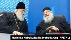 Патріарх УПЦ (Київського патріархату) Філарет та кардинал Української греко-католицької церкви Любомир Гузар