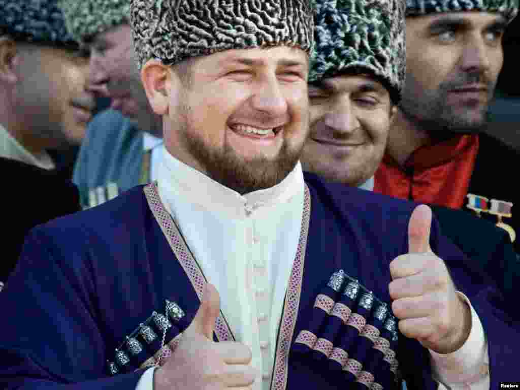 Not to be outdone, Chechen leader Ramzan Kadyrov (above) is trying to get in on the act. It's just been announced that Russia's Vneshekonombank plans to invest $345 million to build a luxury ski resort in the volatile North Caucasus republic.