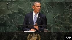 Барак Обама під час виступу перед Генеральною асамблеєю ООН, 24 вересня 2014 року