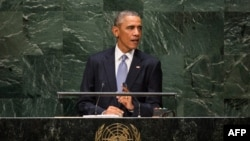 U.S. -- US President Barack Obama speaks at the 69th United Nations General Assembly at United Nations Headquarters in New York, September 24, 2014