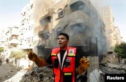 ХАМАС заявляет о многочисленных разрушениях в секторе Газа и жертвах среди мирного населения в результате ответных обстрелов Израиля