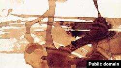 Fransız yazıçısı və rəssamı Victor Hugo-nun abstrakt kompozisiyası