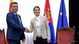 Makedonski premijer Zoran Zaev i njegova srpska koleginica Ana Brnabić, Beograd, 2017.