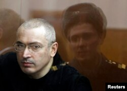Khodorkovsky in a Moscow court on April 5, 2010