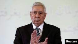 Временно исполняющий обязанности президента Алжира Абделкадер Бенсалах.