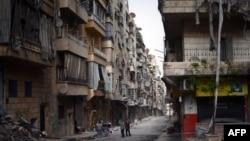 Сирия – Здания в Алеппо, поврежденные в результате боевых действий (архив)