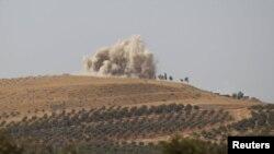 حملات هوایی به مناطق تحت کنترل شورشیان در شمالی سوریه (عکس از آرشیو)