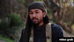 Нейл Пракаш на кадре из пропагандистского видео экстремистской группировки «Исламское государство».