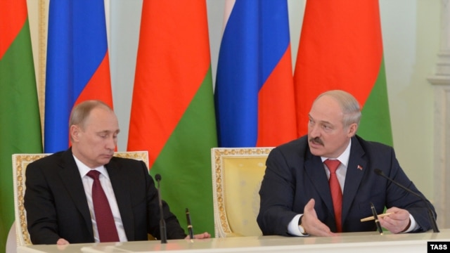 Unequal partners: Russian President Vladimir Putin and his Belarusian counterpart, Alyaksandr Lukashenka