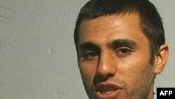 عبدالمالک ریگی، رهبر گروه جندالله، در حال اعتراف در برابر دوربین تلویزیون