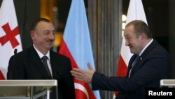 Президенты Азербайджана и Грузии Ильхам Алиев и Георгий Маргвелашвили