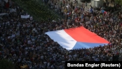 Акция в Праге.