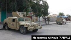 انتشار قوات امنية في شارع بالموصل