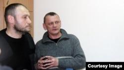 Руководитель «Правого сектора» Дмитрий Ярош и Николай Карпюк (справа)