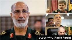 "The commander of IRGC's regional HQ in the West of Iran ""Najaf-e Ashraf"", Mohammad Nazar Azimi and his provincial depuies Bahman Reyhani (Kermanshah), Mazahar Majidi (Hamedan), and Jamal Shakarami (Ilam)."